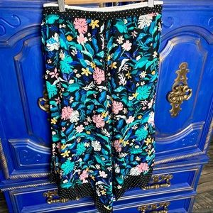 Kensie Floral Lounge Pajama Pants Capri Small